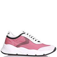 Розовые кроссовки Voile Blanche на белой подошве, фото