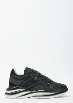 Черные кроссовки Bogner из кожи и текстиля, фото