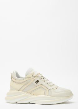 Белые кроссовки Bogner на толстой подошве, фото