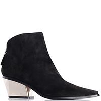 Замшевые ботинки Le Silla с зеркальным каблуком, фото