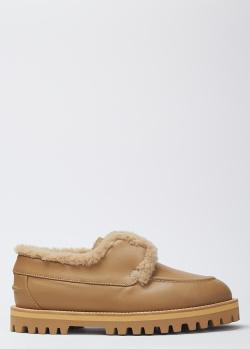 Низкие ботинки Le Silla с натуральным мехом внутри, фото