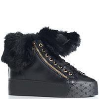 Черные ботинки Blumarine на платформе, фото