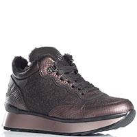 Коричневые кроссовки Bogner с бронзовым отливом, фото