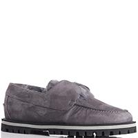 Зимние туфли Le Silla из замши серого цвета, фото