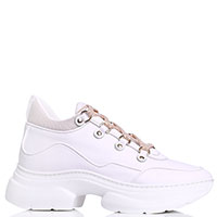 Белые кроссовки Stokton на толстой подошве, фото