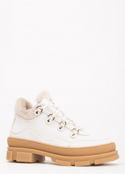 Белые ботинки Stokton на меху, фото