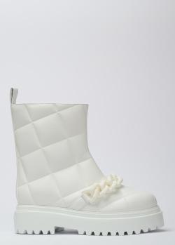 Стеганые полусапоги Le Silla белого цвета, фото