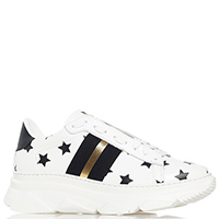 Белые кроссовки Stokton с принтом-звезды, фото