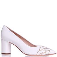 Белые туфли Casadei со стразами, фото