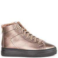Ботинки из кожи Stokton бронзового цвета, фото