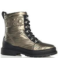 Золотистые ботинки Liu Jo с утеплителем, фото