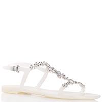 Силиконовые сандалии Menghi белого цвета, фото