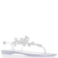 Серебристые сандалии Menghi с блеском, фото