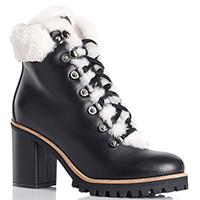 Черные ботинки Le Silla на высоком каблуке, фото