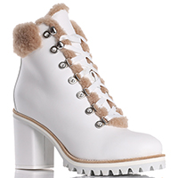 Ботинки Le Silla из кожи белого цвета, фото