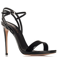 Лаковые черные босоножки  Le Silla на шпильке, фото