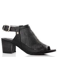 Черные босоножки Nero Giardini из перфорированной кожи, фото