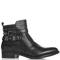 Ботинки Nero Giardini из мягкой кожи черного цвета, фото