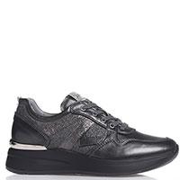 Серые кроссовки Nero Giardini с серебристыми вставками, фото