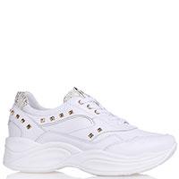 Белые кроссовки Nero Giardini с золотыми вставками, фото