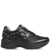 Черные кроссовки Nero Giardini с заклепками, фото