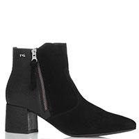 Черные ботинки Nero Giardini из замши и зернистой кожи, фото