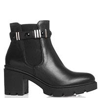 Черные ботинки Nero Giardini с рельефной подошвой и устойчивым каблуком, фото