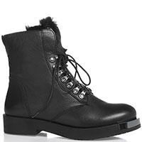 Ботинки Marino Fabiani из зернистой кожи черного цвета, фото