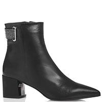 Черные ботинки Marino Fabiani с декоративными заклепками, фото