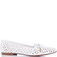 Белые туфли Baldinini с декором-бантом, фото