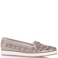 Бежевые туфли Baldinini с золотистым напылением, фото
