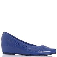 Синие туфли Baldinini на скрытой танкетке, фото