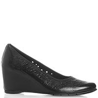 Черные туфли Baldinini с тиснением и перфорацией, фото