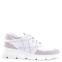 Белые кроссовки L4K3 из текстиля, фото