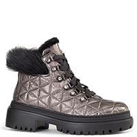 Стеганые ботинки Stokton серебристого цвета, фото