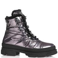 Высокие ботинки Stokton серебристого цвета, фото
