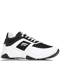 Черные кроссовки Fornarina на шнуровке, фото