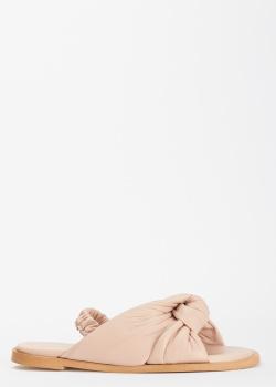Бежевые сандалии Bianca Di с эластичным ремешком, фото