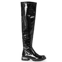 Лаковые ботфорты Tommaso Marino черного цвета, фото