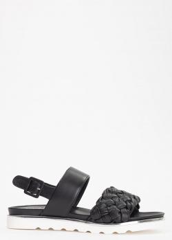 Кожаные сандалии Evaluna черного цвета, фото