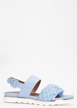 Голубые сандалии Evaluna из плетеной кожи, фото