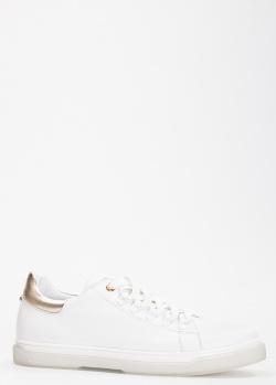 Белые кеды Tommaso Marino с золотистым задником, фото