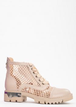 Бежевые ботинки Tommaso Marino с атласной шнуровкой, фото