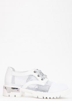 Белые туфли Tommaso Marino с перфорацией, фото