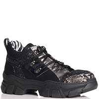 Черные кроссовки Meline животным принтом на носке, фото