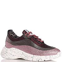 Трехцветные кроссовки Meline на толстой подошве, фото