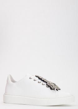Белые кеды Evaluna с объемным декором, фото