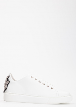 Белые кеды Evaluna с декором из страз, фото