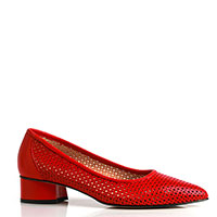 Красные туфли Donna Soft с перфорацией, фото