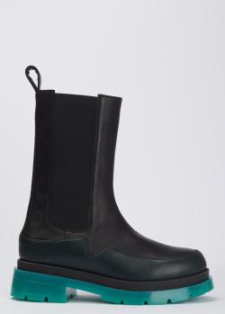Кожаные ботинки Tommaso Marino с акцентной подошвой, фото